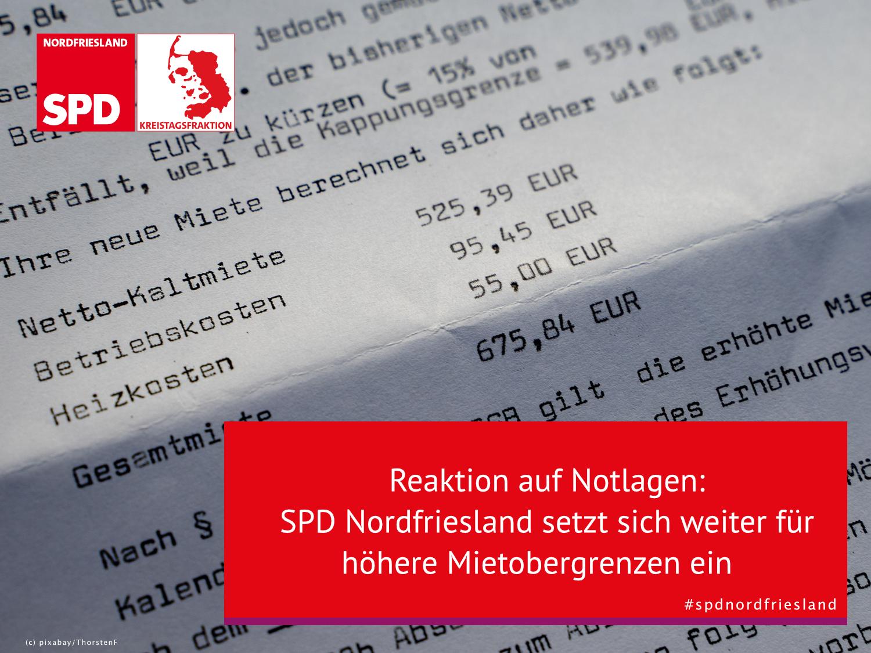 SPD Nordfriesland setzt sich weiter für höhere Mietobergrenzen ein